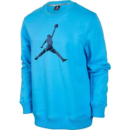 26b286716be Jordan Jumpman Crewneck Men s Fleece T-Shirt Sky Blue Black 574146-412 (