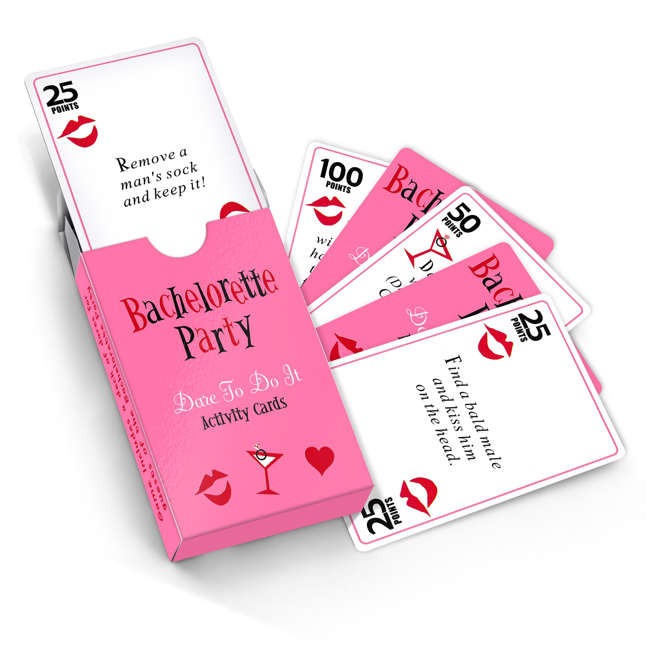 52 Card Bachelorette Party Dare Game With Drinking & Scavenger Hunt Cards - Fun Bridal Shower or Hen Party Supplies & Decorations Idea by Giftington