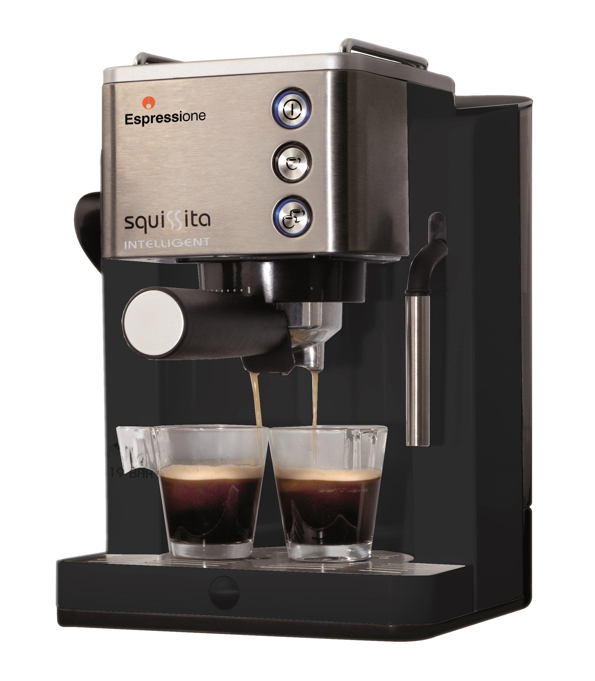 Espressione CE-4492 Squissita Intelligent Espresso Machine, 1.22 L, Stainless Steel by Espressione (Image #1)