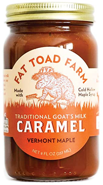 Fat Toad Farm Traditional Goats Milk Caramel Sauce, Vermont Maple, 8fl oz Jar,
