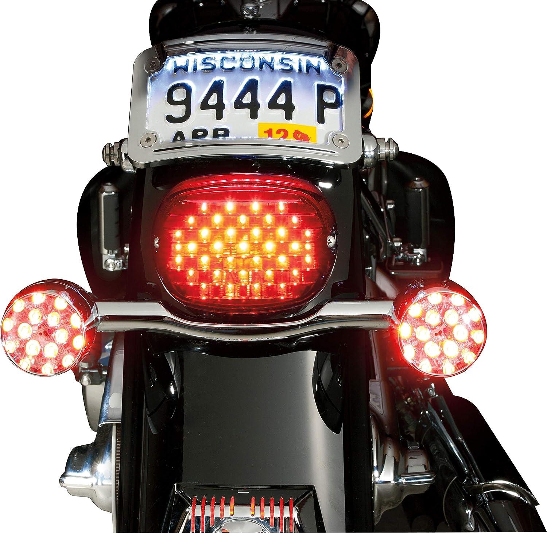 Kuryakyn 5439 Motorcycle Lighting Low Profile LED Taillight Conversion Kit without License Plate Illumination Light for 2005-19 Harley-Davidson Motorcycles Smoke Lens