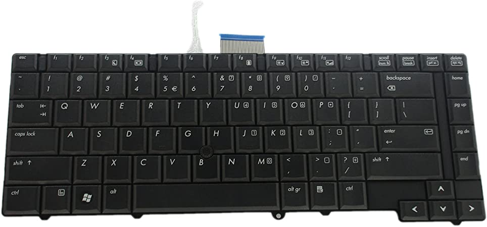 KBR Replacement Keyboard for HP Elitebook 8440P 8440W Series with Pointer US Layout