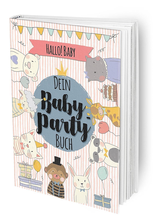 Hallo Baby - Das Baby-Party Buch für die beste Babyparty vor der Geburt mit allen Freundinnen der Mama und guten Wünschen, DIN A4 Buch mit Poster und Einladungskarten Rundfux Media Publishing Verena Potthast
