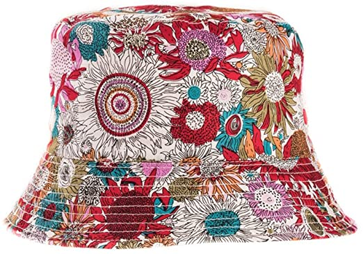 4217dd360ce Womens Reversible Bucket Hats in a Floral Design  Amazon.co.uk  Clothing