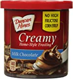 Duncan Hines Creamy Home-Style Frosting, Milk Chocolate, 16 Ounce