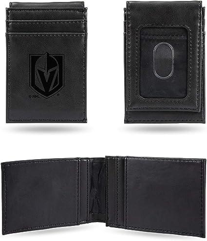 NHL Rico Industries  Laser Engraved Billfold Wallet Vegas Golden Knights