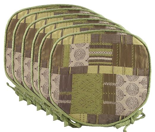 Cojines para asientos de chilla, estilo marroquí verde de ...