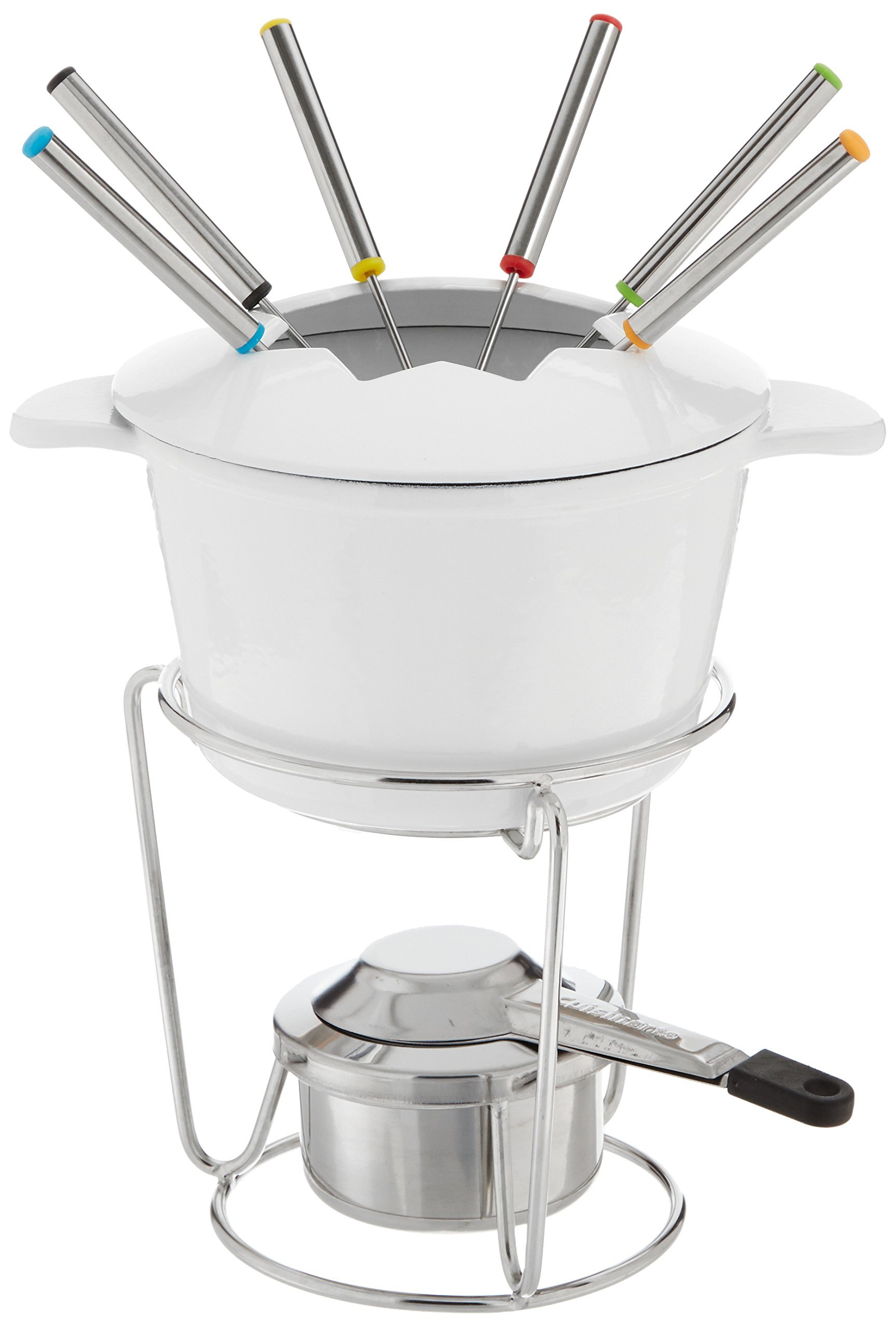 Cuisinart FP-115WS 13-Piece Cast Iron Fondue Set, White by Cuisinart (Image #1)