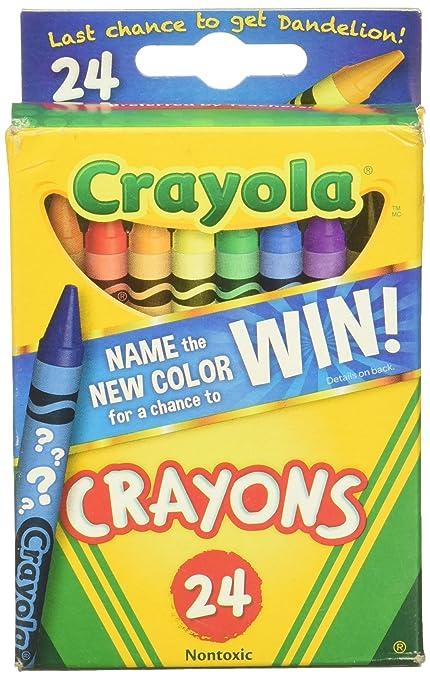 amazon com crayola crayons 24 counts multicolored lasts 35