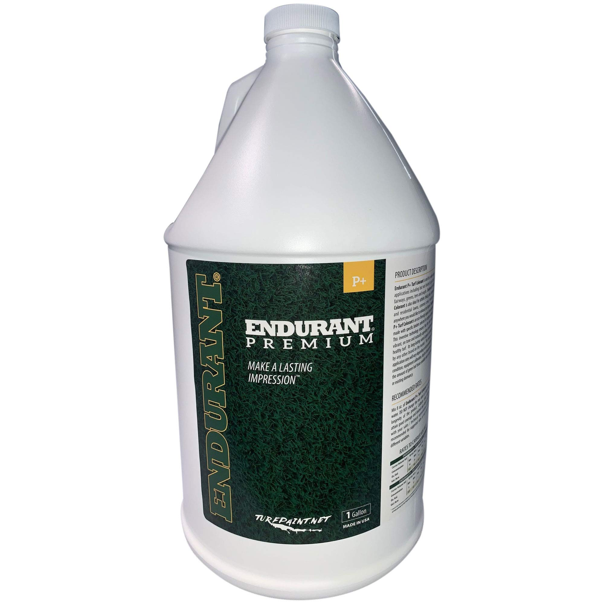 Concentrated Turf and Grass Colorant - 1 Gallon Jug Revitalizes Approximately 10,000 Sq. Ft of Dormant, Drought-Stricken or Patchy Lawn (Premium) by Endurant