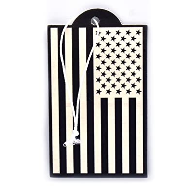 Elektroplate USA Flag Inverted Air Freshener, New Car Scent, 6-Pack: Automotive