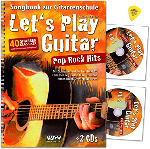 Lets Play Guitar Pop Rock Hits - Libro de canciones para guitarra ...