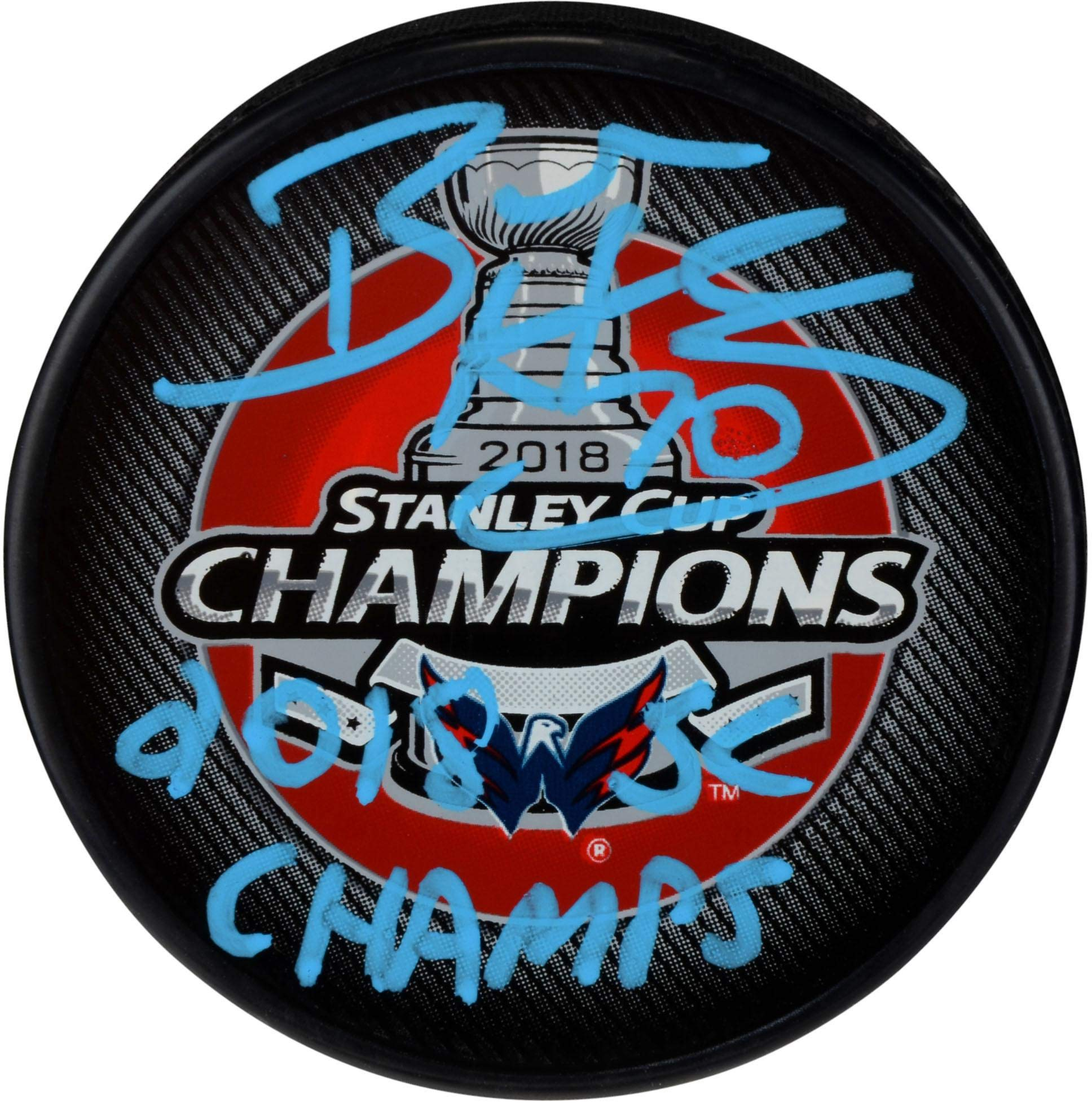 Braden Holtby Washington Capitals 2018 Stanley Cup Champions Autographed Stanley Cup Champions Logo Hockey Puck with 2018 SC Champs Inscription Fanatics Authentic Certified