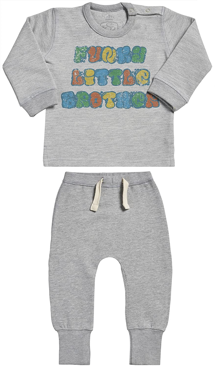 Baby Gift Set Funky Little Brother Baby Outfit Baby Sweater /& Baby Joggers Baby Clothing Outfit SR