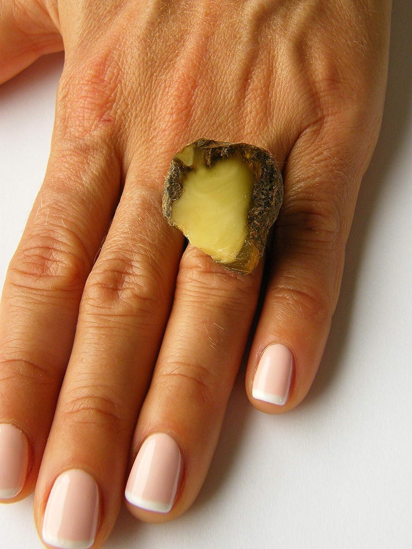 NEU UNIKAT 19262 Amber LIME massives Silber 925 Wundersch/öner Ring balt.Bernstein