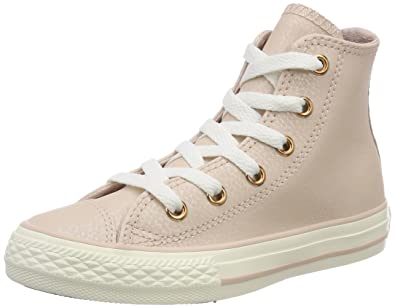 7882c9190a89 Converse Chuck Taylor All Star Hi Fashion Sneakers Beige Rose Gold Size 1  Little Kid