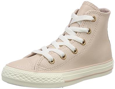 f18b8ee9de3f Converse Chuck Taylor All Star Hi Fashion Sneakers Beige Rose Gold Size 1  Little Kid