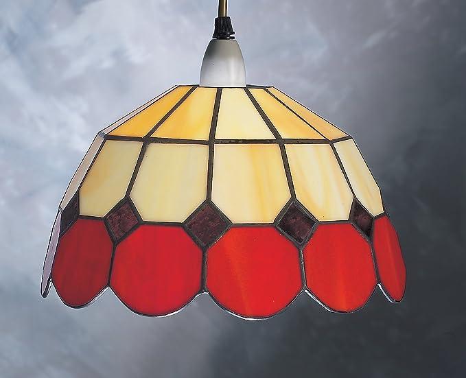 Lampadari E Plafoniere Tiffany : Br cm red bistro design tiffany paralume in vetro colorato
