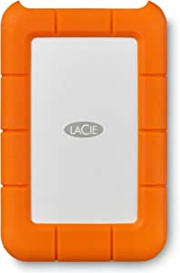 LaCie Rugged Mini 1TB External Hard Drive Portable HDD – USB 3.0 USB 2.0 compatible, Drop Shock Dust Rain Resistant Shuttle Drive, For Mac And PC Computer Desktop Workstation PC Laptop (LAC301558), Orange