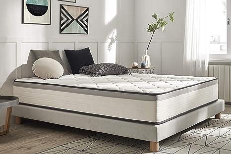 Moonia - Colchón 150 x 190 cm - Cama de Matrimonio - Colchones de Alta Durabilidad - Colchón Antiacaros - Modelo Premium Hotel Edition
