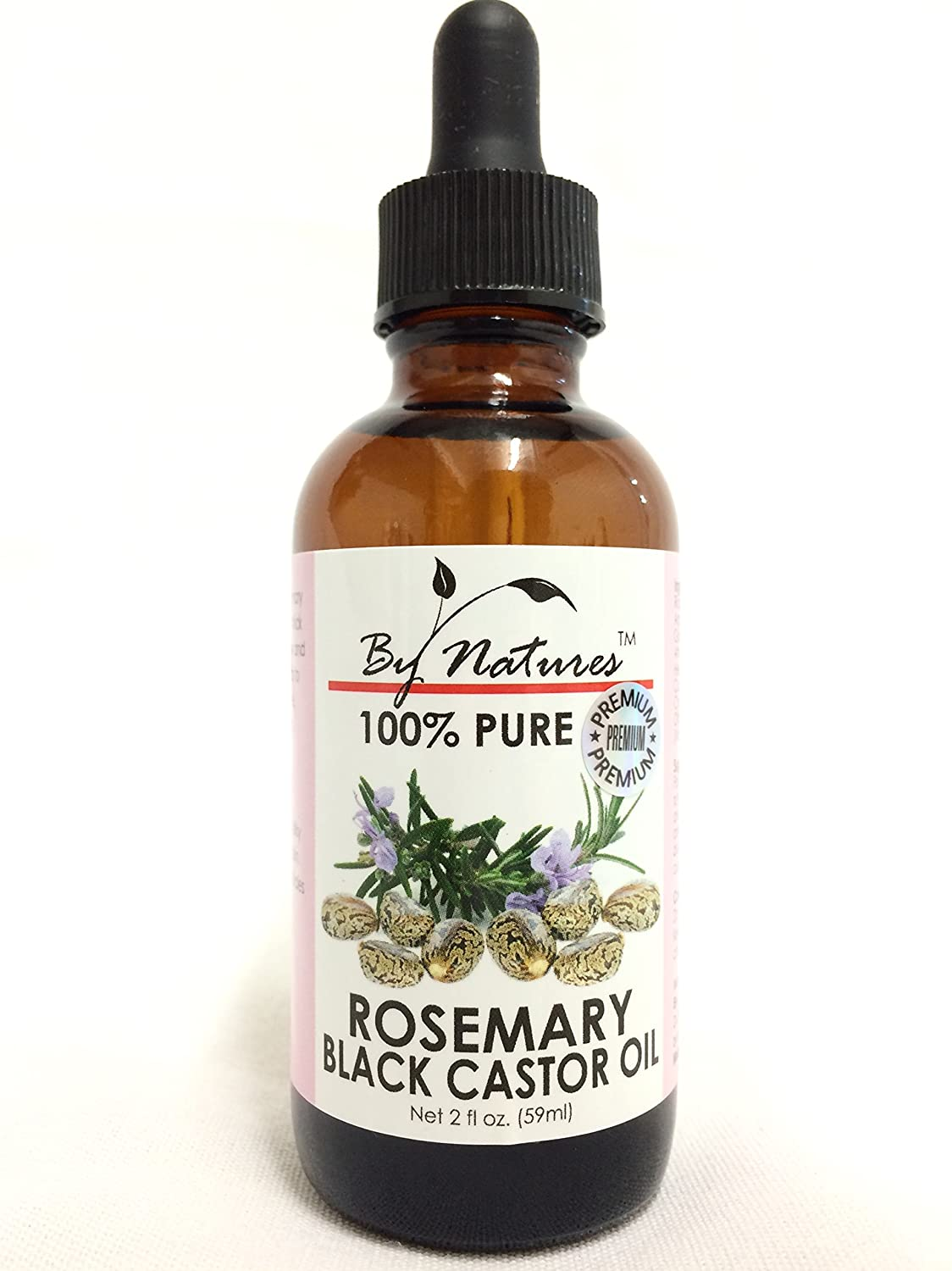 (2 Oz) By Natures 100% Pure: Rosemary Black Castor Oil