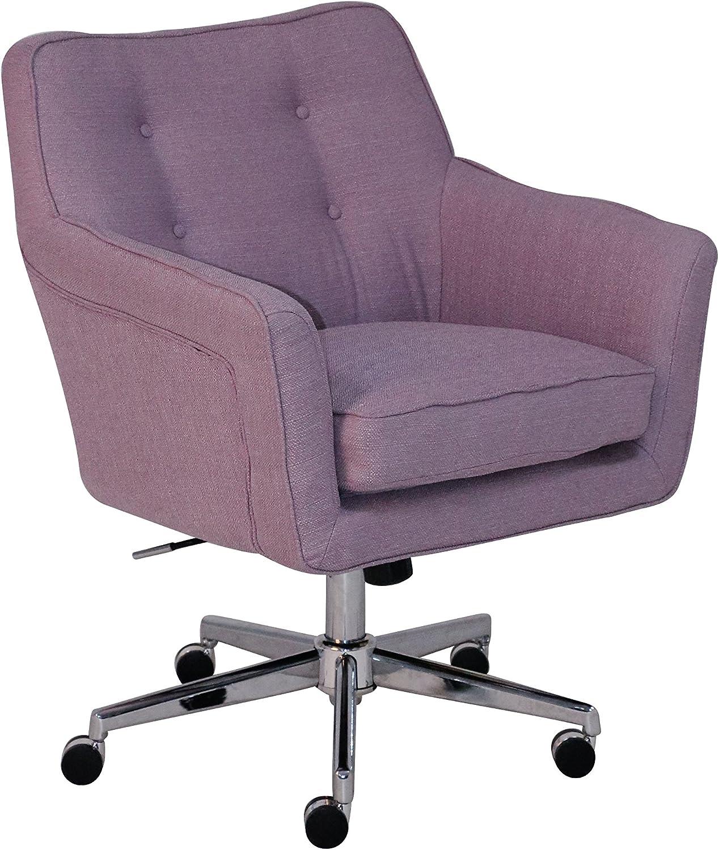 Serta Style Ashland Home Office Chair, Fresh Lilac Twill Fabric