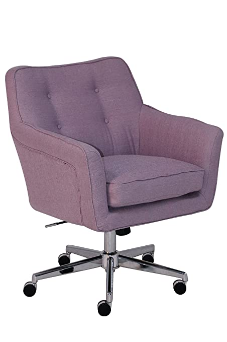 Serta Style Ashland Home Office Chair, Twill Fabric, Lilac