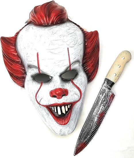 Mut Máscara Payaso IT con Cuchillo Asesino para Disfraz ...