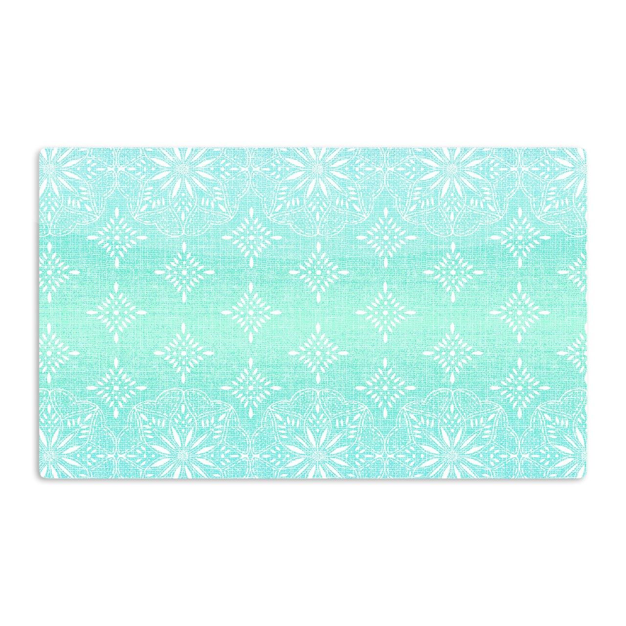 Multicolor KESS InHouse Suzie TremelMedallion Aqua Ombre Blue Teal Artistic Aluminum Magnet 2 by 3