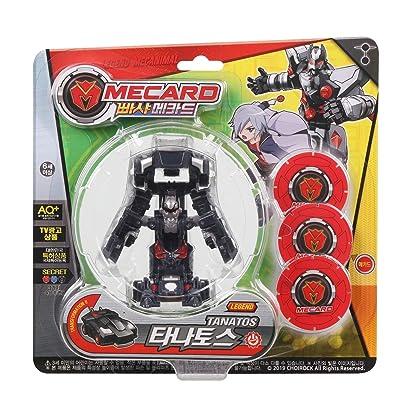Pasha Mecard Legend TANATOS Mecanimal Transforming Car Toy Black Color Shooting Pop Up on Card (Single Product): Toys & Games