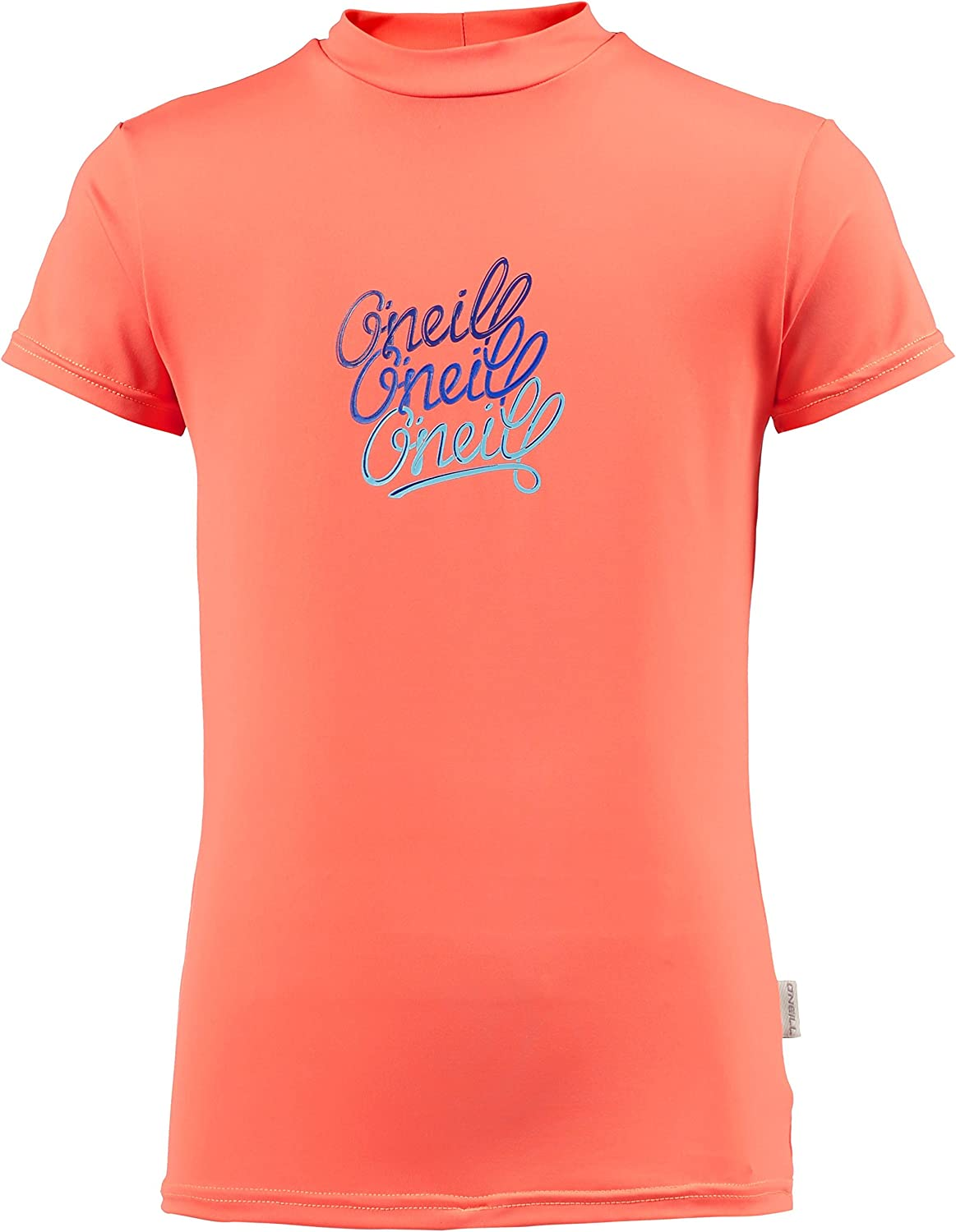 UV Sun Protection and SPF Properties ONeill Youth Kids Junior Girls Short Sleeve Rash T-Shirt Tee T Shirt Top Coral Punch
