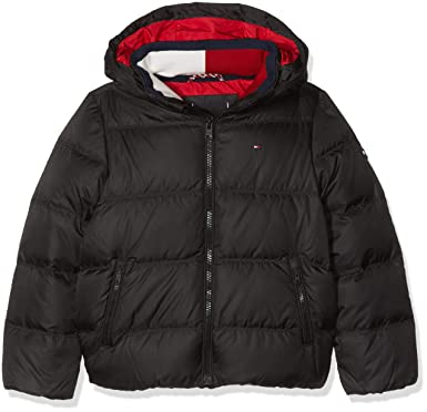 48da765f Tommy Hilfiger Boy's Essential Basic Down Jacket Jacket, Black (Tommy 014),  40L