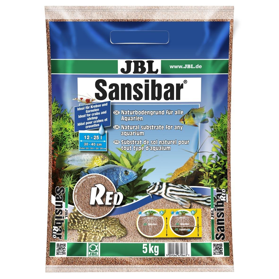 JBL Sansibar ORANGE 5kg - Substrat de sol fin - Couleur orange - Pour aquariums d'eau douce ou d'eau de mer 6706400