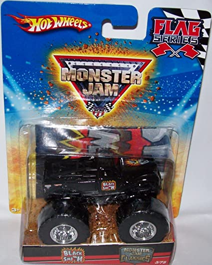 Amazon Com Hot Wheels Monster Jam Diecast 1 64 Size Blacksmith Flag Series Toys Games