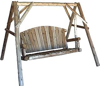 product image for Lakeland Mills CFU28 Cedar Log Outdoor Yard Swing, 5-Feet
