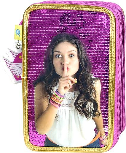 Soy Luna - Estuche de 3 Pisos Deluxe con Sequin (CIFE 40521): Amazon.es: Juguetes y juegos