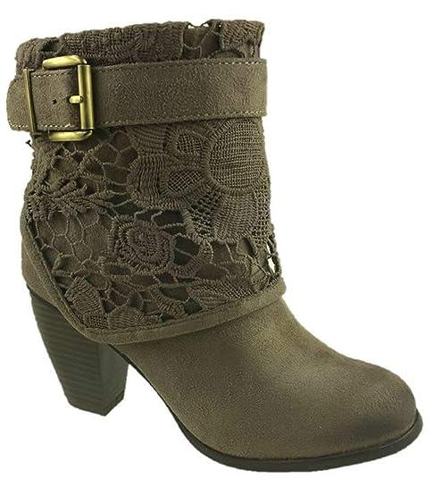 Mc Footwear Botas de Vaquero Chica Mujer, Color Marrón, Talla 37 EU: Amazon.es: Zapatos y complementos