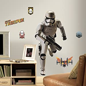 RoomMates Star Wars The Force Awakens Ep VII Storm Trooper Peel and Stick Giant Wall Decal