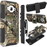 Galaxy Sky Case, Galaxy J3 Case, Venoro Heavy Duty Armor Holster Defender Full Body Protective Hybrid Case Cover with Kickstand and Belt Swivel Clip for Samsung Galaxy J3 (Tree Branch Camouflage)