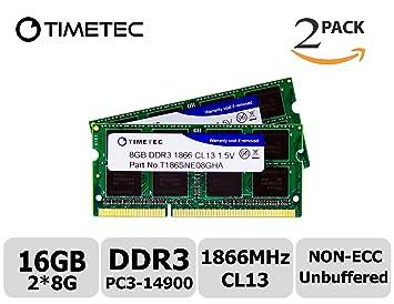 A-Tech 16GB 2 x 8GB PC3-14900 Laptop SODIMM DDR3 1866 MHz Memory RAM PC3L DDR3L