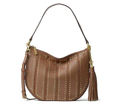 a01134cb67c9 Amazon.com  MICHAEL Michael Kors Womens Brooklyn Leather Hobo Handbag Brown  Large  Shoes
