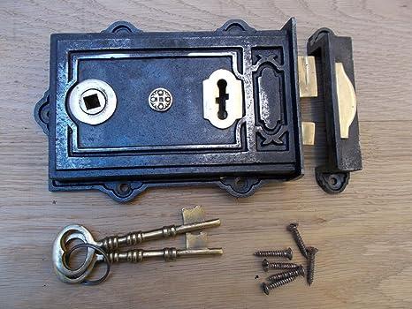 IRONMONGERYWORLD - Cierre de puerta de hierro fundido rústico estilo victoriano antiguo