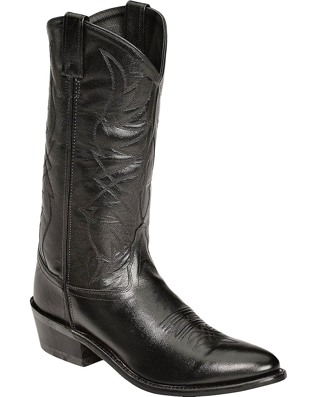 09ee2181808 Old West Men's Smooth Leather Cowboy Boot