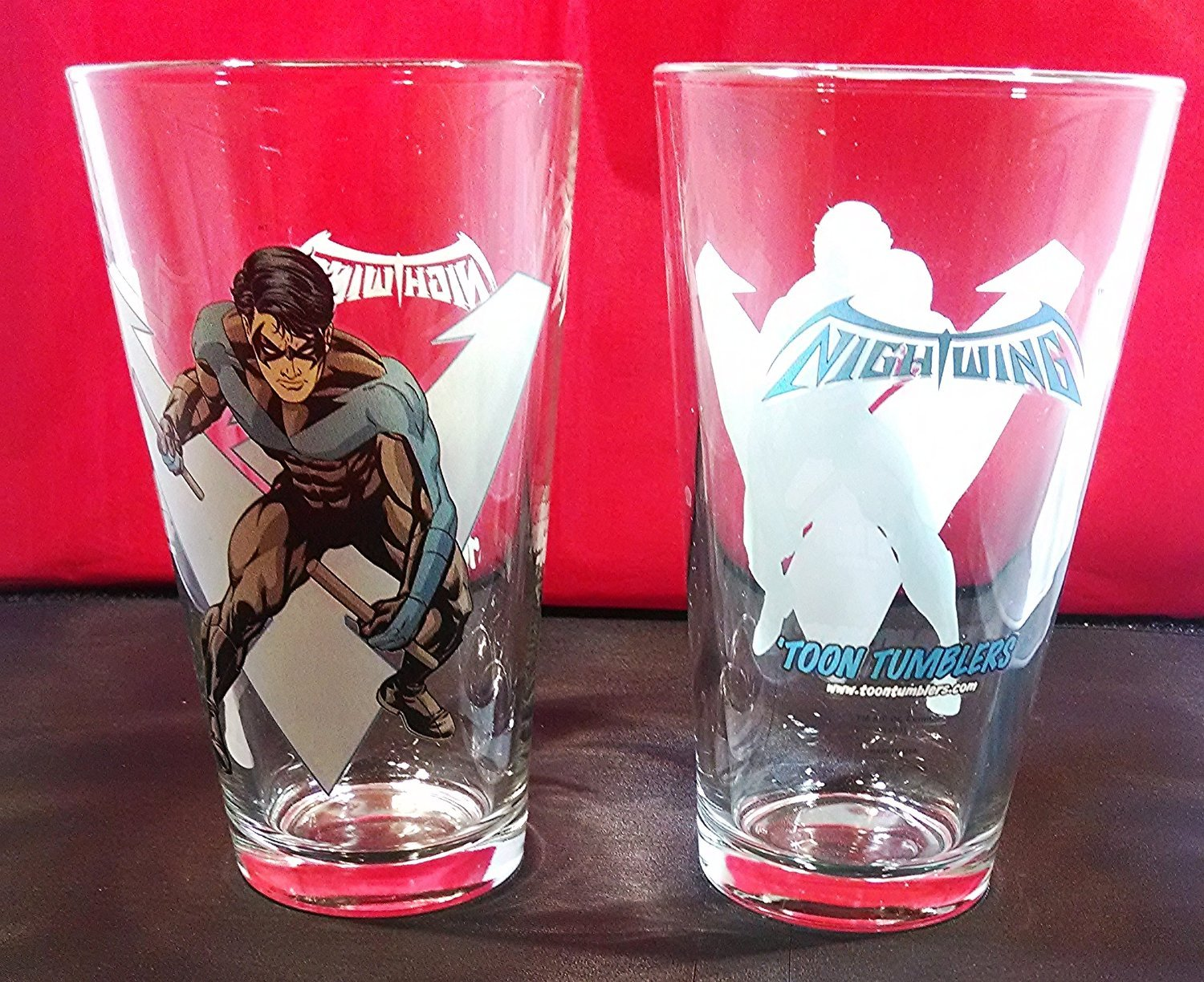 Pint Glass - DC Comics - Nightwing Toon Tumbler 16oz Cup New Toys TT0138 Pop Fun Merchandising COMINHKPR68143