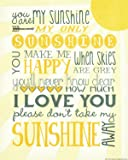 1093 You Are My Sunshine Wall Decor, 14 x 11-Inch