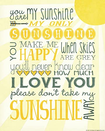 1093 You Are My Sunshine Wall Decor, 14 X 11 Inch
