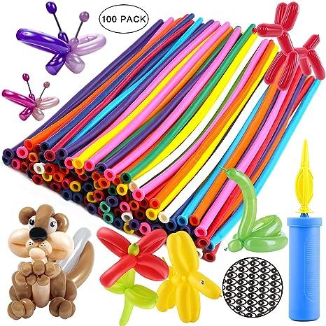 Amazon.com: Globos Animales Kit Twisting Globos (100 piezas ...