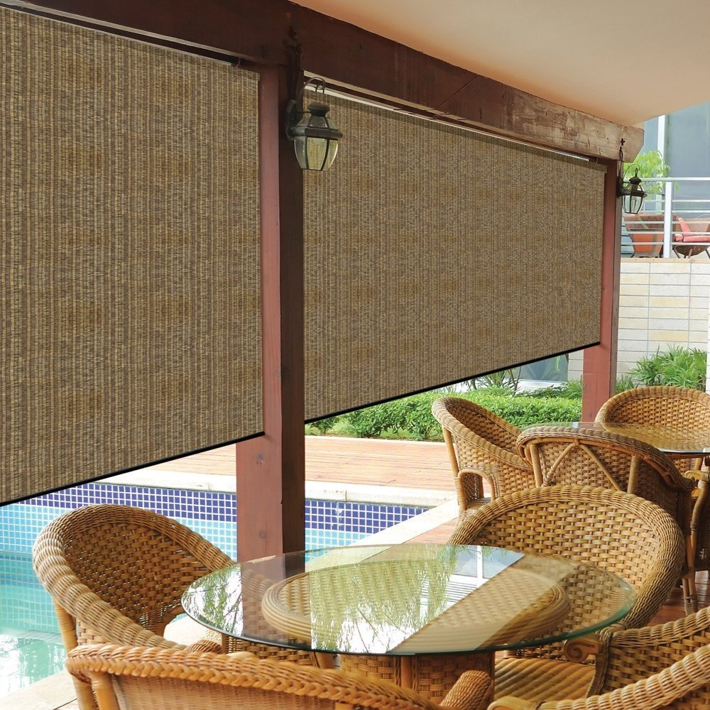 Amazon.com : Coolaroo Exterior Roller Shade, 10 By 8 Feet, Pebble : Garden  U0026 Outdoor