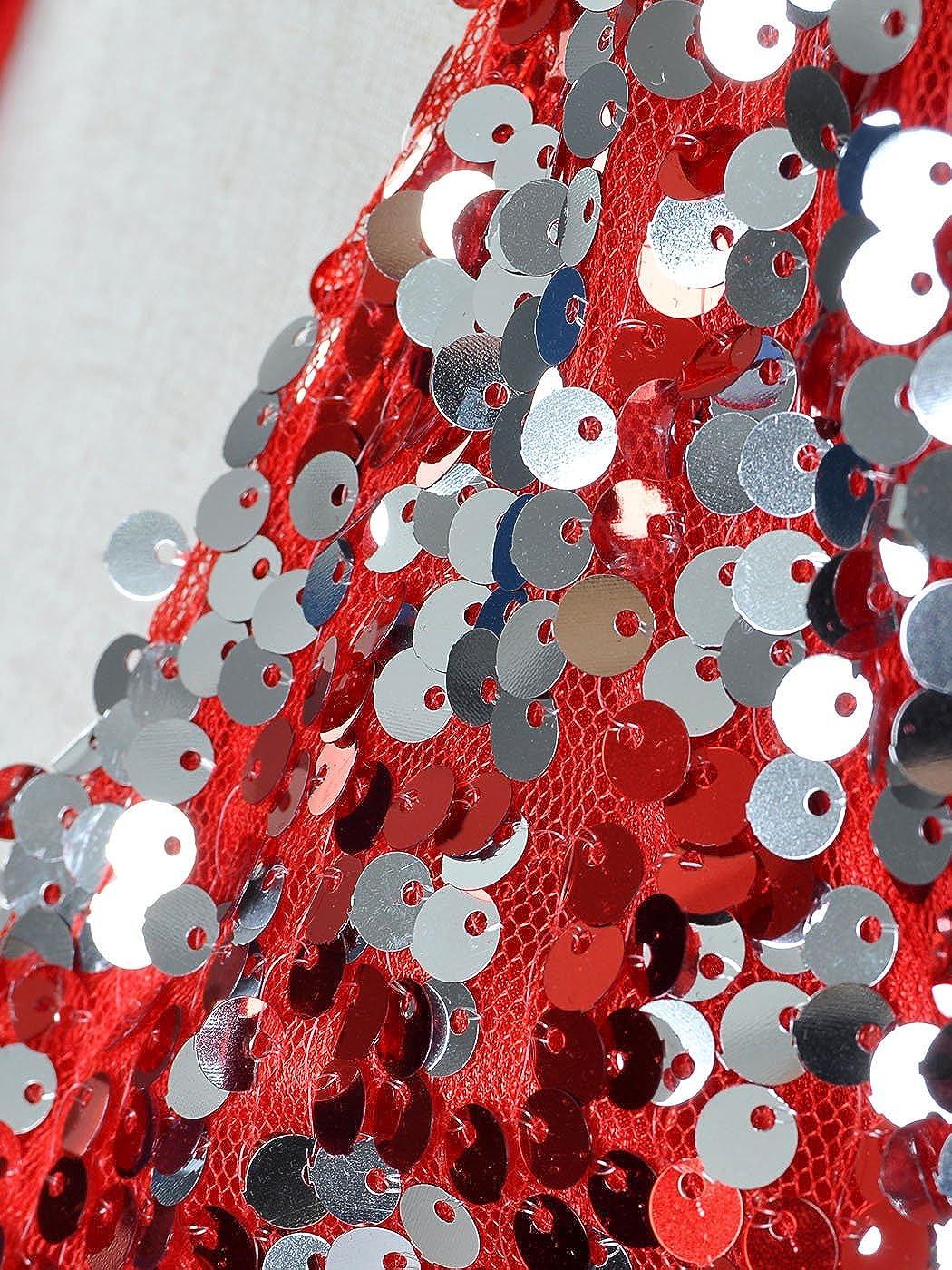Anna-Kaci Femmes paillettes Sequins manches longues Blazers Bolero  Haussement d épaules recadrée veste Y91132P d1c0726b8611
