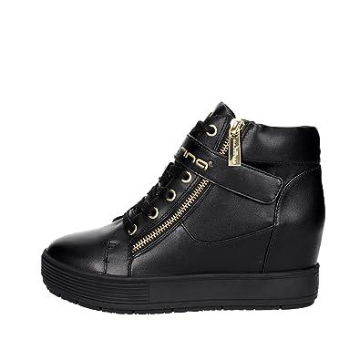 miglior sito web fascino dei costi nuovo stile di vita Fornarina Sneakers con Zeppa Interna Nero PIFMJ9606WVA0000 meti-Black Nappa  Nuova Collezione Autunno Inverno 2016 2017